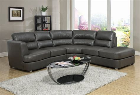 furniture nostalgic fancy gray leather sectional