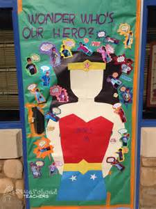 Superhero Classroom Theme Decorations - bulletin board squarehead teachers