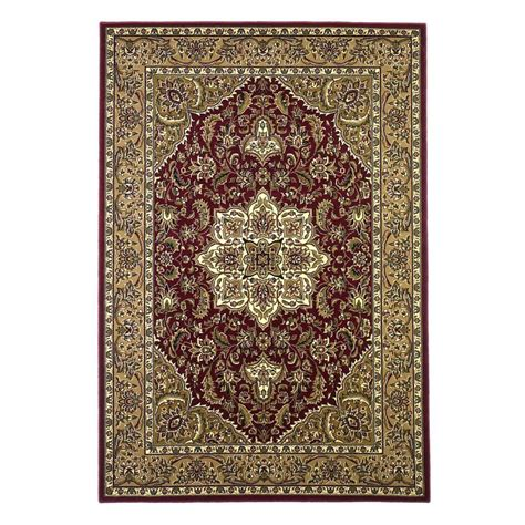 Kas Area Rugs Kas Rugs Classic Medallion Beige 5 Ft 3 In X 7 Ft 7 In Area Rug Cam732653x77 The Home