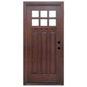 Prefinished Exterior Doors Steves Sons Craftsman 6 Lite Prefinished Mahogany Wood Prehung Front Door Discontinued