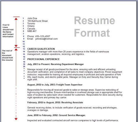 resume format in canada a guide to create a canadian style resume increase your