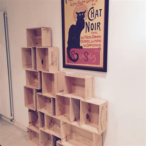 Etagere A Tableau by 201 Tag 232 Re En Caisse De Bois Vin Tableau Chat Noir