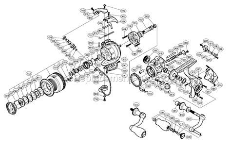 shimano stradic parts diagram shimano stci42500fa parts list and diagram