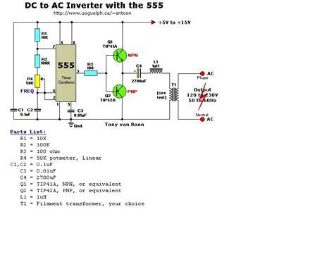 aplikasi electric engineering inverter sederhana mengubah sinyal dc menjadi sinyal ac sinusoidal