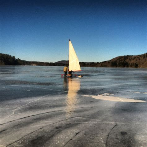 ice boat ice boating the other day the maine