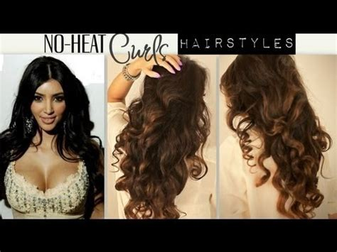 hairstyles for long hair no heat kim kardashian big curly no heat curls waves cute