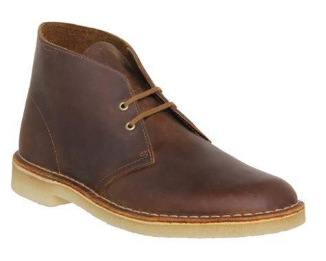 Shoes Clarks Boots Brown lyst clarks desert boots in brown for