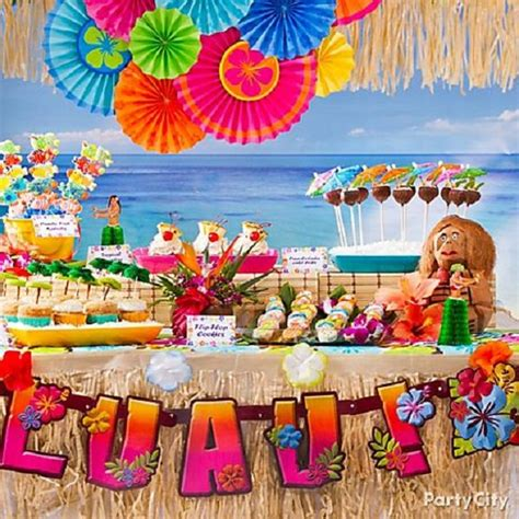 luau themed decorations summer birthday ideas for and design