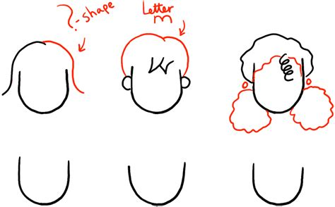 step by step hairstyles to draw how to draw girls hair styles for cartoon characters