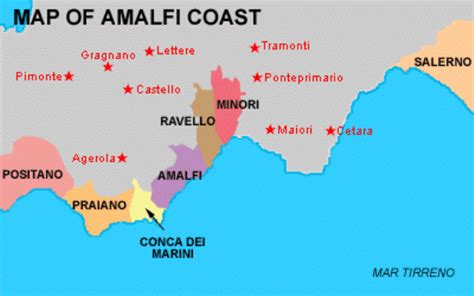 Map Of Italy Amalfi Coast by Amalfi Map Related Keywords Amp Suggestions Amalfi Map