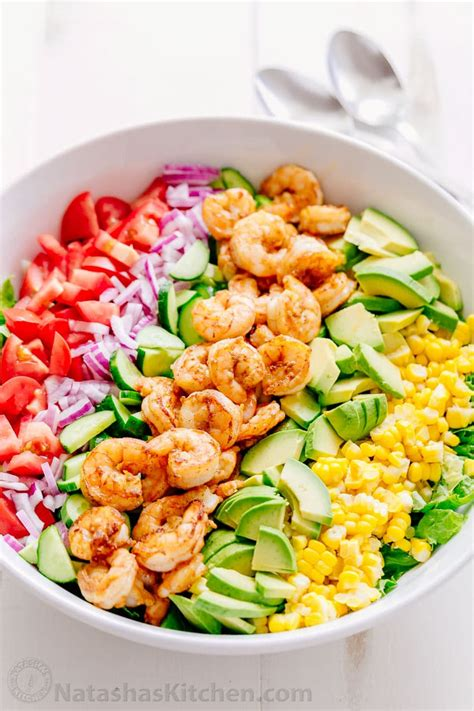 salad recipes shrimp avocado salad recipe natashaskitchen com