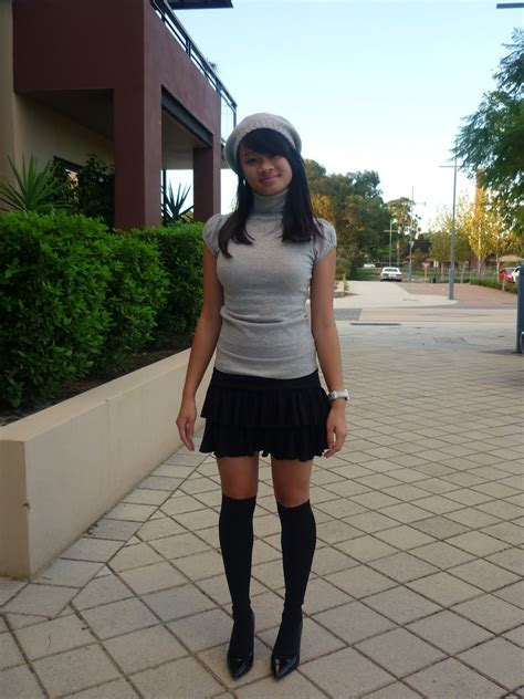 j adore rara skirts and knee high socks