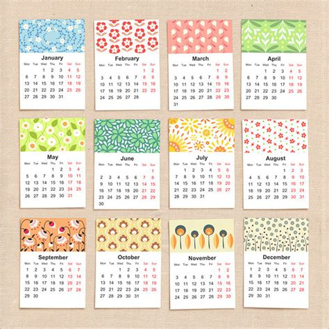 Design Of Calendar 2015 | 25 new year 2015 wall desk calendar designs for inspiration