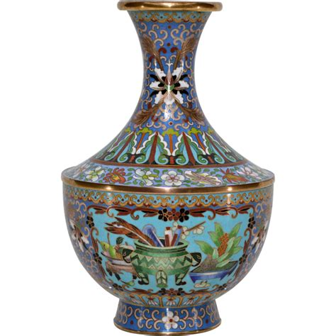 Vintage Cloisonne Vase Vintage Maitland Smith Cloisonne Vase From Tolw On Ruby Lane