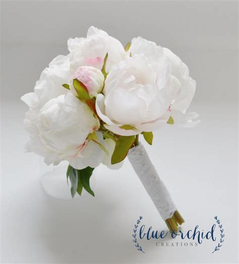 Small Wedding Bouquets by Small White Peony Bouquet Peony Bouquet In White