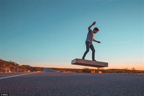 skate volante arcaboard hoverboard revealed by arca space corporation in
