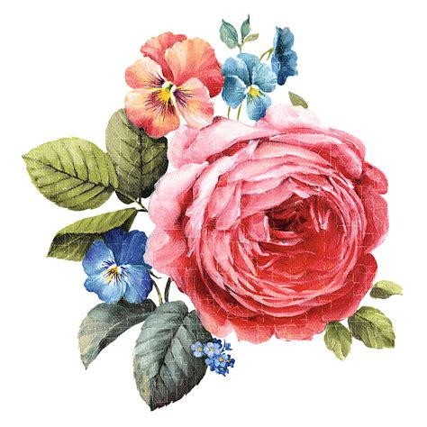 Decoupage Flowers - decoupage flower flower painting flower painting png