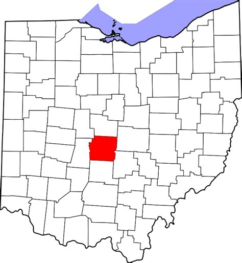 Search Franklin County File Map Of Ohio Highlighting Franklin County Svg Facts For Kidzsearch