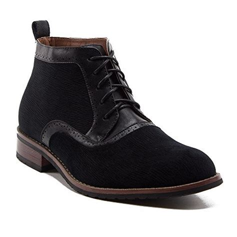 mens designer lace up boots ferro aldo s 806513 designer suede brogue lace up