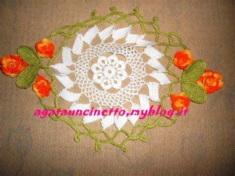 centro fiori centro uncinetto ovale agatauncinetto
