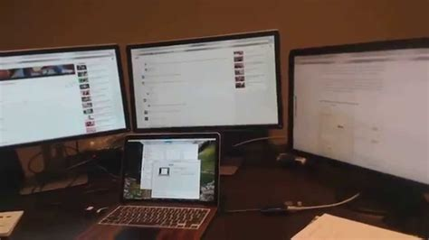How To Two Screeens From Mba To External Monitor macbook pro 13 quot 3 external monitors