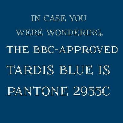 approved tardis blue is pantone 2955c geeking juxtapost