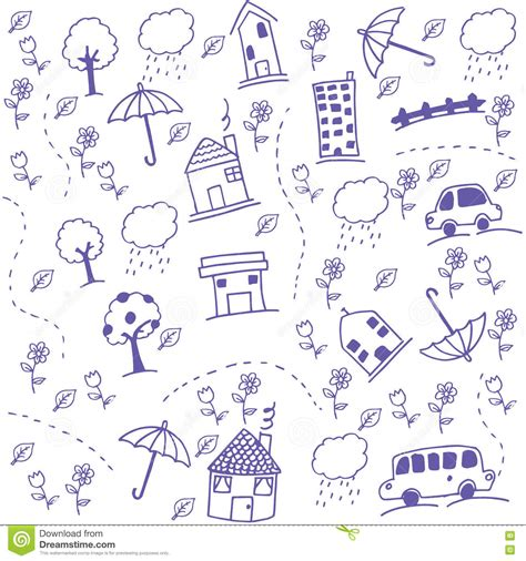 doodle home draw doodle stock vector image of exterior