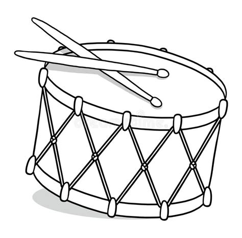 drum template drum outline illustration stock illustration illustration