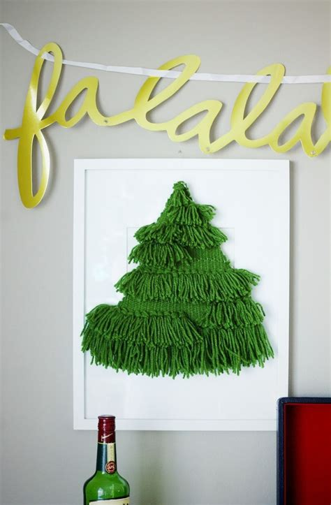 diy woven christmas tree wall hanging emily loeffelman