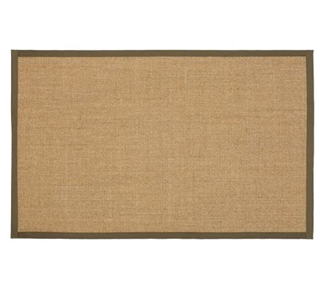 color bound sisal rugs color bound sisal rug tobacco pottery barn