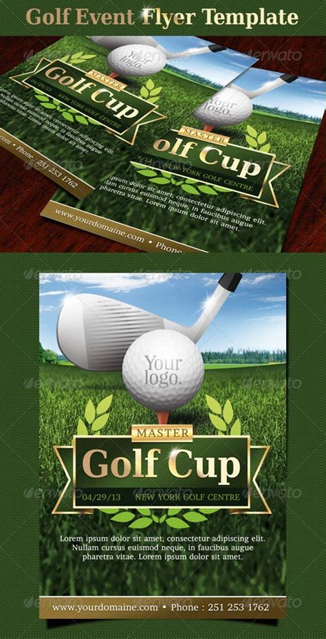 graphicriver golf event flyer template avaxhome