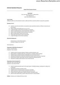 Resume Clinical Skills Best Assistant Resume Sles You To Write The Right Applications Besides