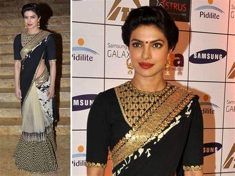priyanka chopra in ethnic wear don t you just love priyanka chopra in this black and gold