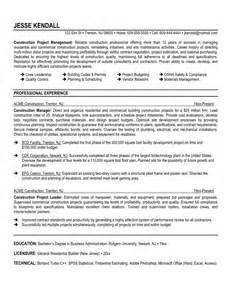 construction supervisor resume resume format