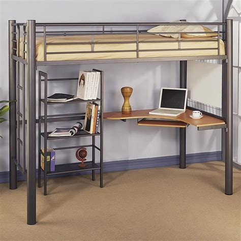 metal bunk bed with desk mutable desk also stairs plus in full size also metal loft