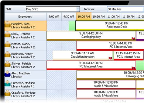 library staff scheduling software snap schedule