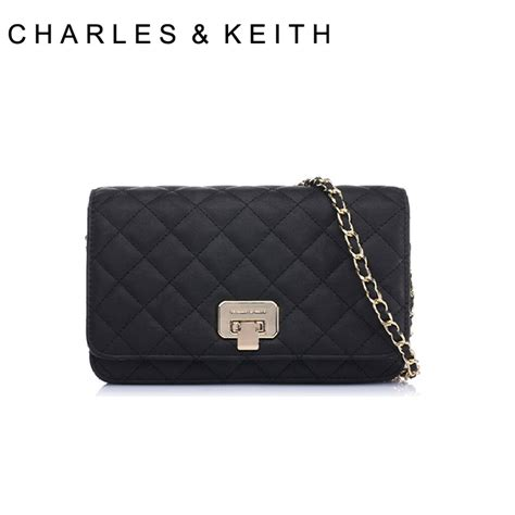 Others 100 Original Charles Keith Chain Bag charles keith genuine classic lozenge generation car suture chain handbag small ck2