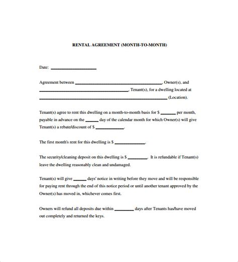 exle printable lease agreement sle blank lease agreement commercial lease agreement