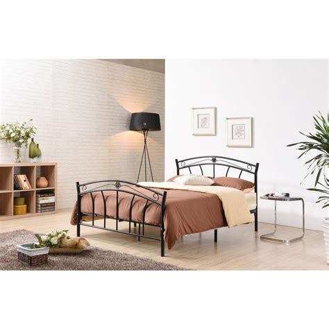 Black Headboard And Footboard Hodedah Black Size Metal Panel Bed With Headboard And Footboard Hi816 F Black The Home Depot