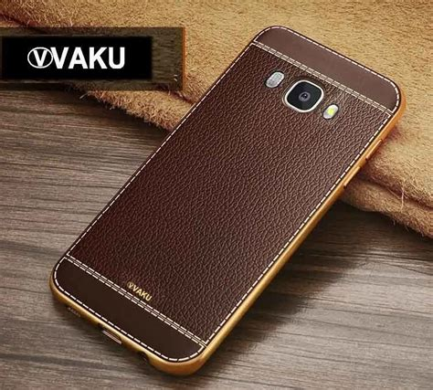 Softcase Leather Samsung E5 Gold vaku 174 samsung galaxy j7 2016 leather stiched gold electroplated soft tpu back cover