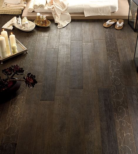 using wood look floor tiles throughout the house