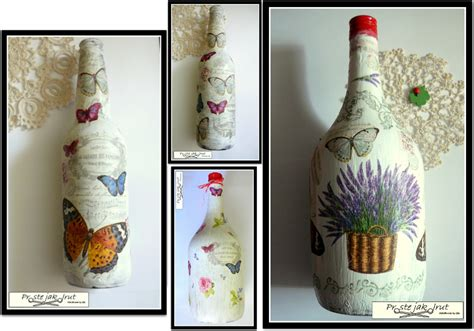 Tutorial Decoupage - proste jak drut decoupage na butelkach tutorial how to