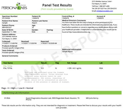 test psa cancer test specific antigen test