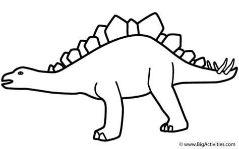 stegosaurus coloring page birthday