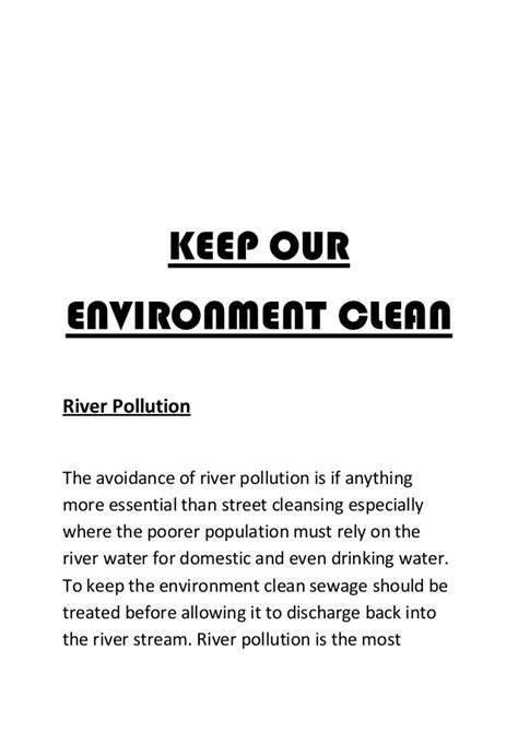 Clean Environment Essay by Keep Our Environment Clean And Green