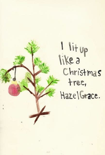 it lit up like a christmas tree hazel gr by john green