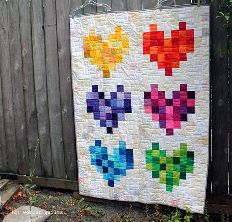 How To Quilt A Quilt By by Modern Scrap Quilt Wombat Quilts