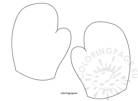 Mitten Template Coloring Page Mitten Coloring Pages Printable