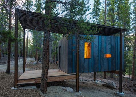 Steel Cabins by Rustic Cabins For Colorado S Outward Bound Students