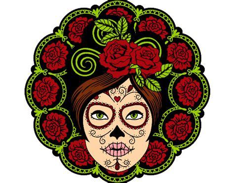 imagenes de calaveras femeninas para dibujar dibujo de calavera mexicana femenina pintado por